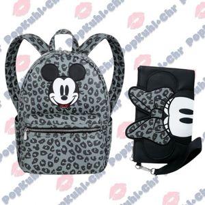 Disney Mickey Backpack & Minnie Mouse Wristlet Set